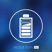 icon vector power load sign symbol supply level - stock illustration