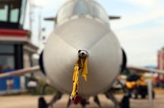 probe tip of the supersonic jet to the airport - stock photo