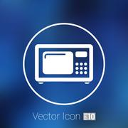 Microwave icon kitchen equipment electronics symbol llustration Stock Illustration