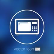 Microwave icon kitchen equipment electronics symbol llustration Stock Illustration
