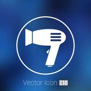 Stock Illustration of Hairdryer sign icon. Hair drying symbol.Blowing hot air