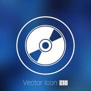 Stock Illustration of Vector CD or DVD icon disc vector compact disk