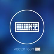 Icon keyboard laptop input put key alphabet tool Stock Illustration