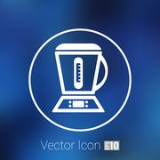 Kitchenware electric juicer squeezer kitchen maker icon Stock Illustration