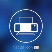Printer icon vector illustration document print fax - stock illustration