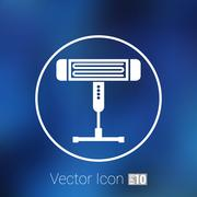 Electric heater vector illustration light icon energy - stock illustration