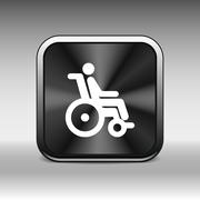 handicap handicapped chair wheel accessible an invalid icon - stock illustration