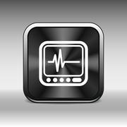 Vector Display with Cardiogram Icon Stock Illustration