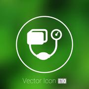 Tonometer flat Icon. Blood Pressure Checker medical - stock illustration