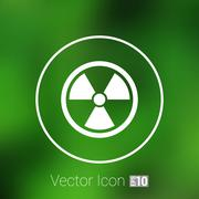 Sign radiation vector icon caution nuclear atom power Stock Illustration
