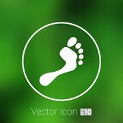 Foot vector icon human footprint logo symbol Stock Illustration