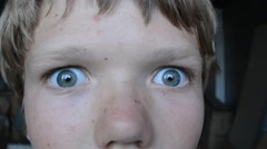 A boy of 12 years. Stock Footage