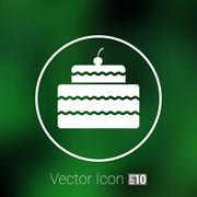 Stock Illustration of Cake Design symbol logo dessert food sweet