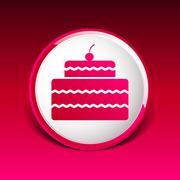 Cake Design symbol logo dessert food sweet Stock Illustration