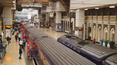 First Western service about to leave Paddington 4K Stock Footage