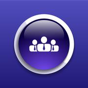 People icon business communication relationships group Stock Illustration