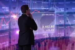 Composite image of businessman standing Stock Illustration