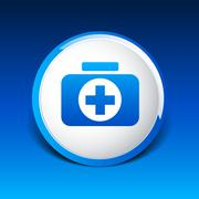 icon cross vector emergency medical symbol doctor medicine chest - stock illustration