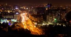 Night city lights - stock footage