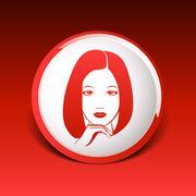 Woman face fashion girl beauty illustration vector Stock Illustration