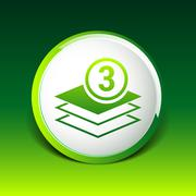 Elegant pyramid multiple layer element icons business - stock illustration