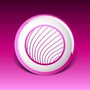 Vector button glass orb disco icon round Stock Illustration