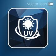 Icon, Label or Sticker Anti UV protection - stock illustration