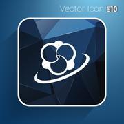 Molecule icon atom vector chemistry symbol element - stock illustration