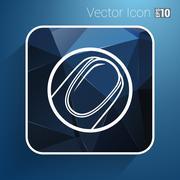 Nail polishing at the salon - Vector icon isolated Stock Illustration