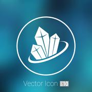 crystal vector icon illustration isolated cold, new elements - stock illustration
