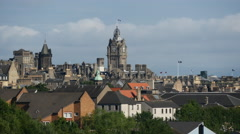 Edinburgh Scotland view from Holyrood Park Stock Footage