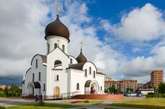 The Pokrovo- Nicholas Church, Klaipeda, Lithuania Stock Photos