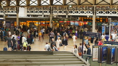 Chaotic Paddington train station in London 4K Stock Footage