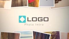 HD Photo Gallery Slide Show 3D  Camera Fly through Logo Reveal Animation Intro - stock after effects