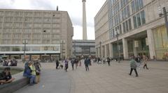 Berliner Fernsehturm tower in Berlin Stock Footage