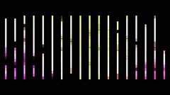 Futuristic animation with light stripe background in motion, loop HD 1080p Stock Footage