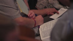Bible Study Church Service Stock Footage