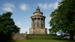 The Burns Monument in Edinburgh Scotland Stock Footage
