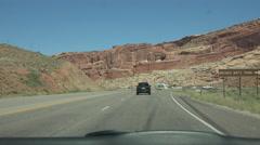 Arches National Park Moab Utah drive POV 4K Stock Footage