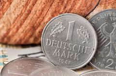 5 Deutsche Mark Bundesrepubik Deutschland - stock photo