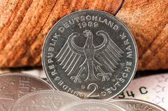 2 two Deutsche Mark Bundesrepubik Deutschland - stock photo