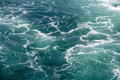 Seawater with Foam Stock Photos