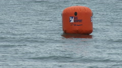 Buoy on the Volvo Ocean Race in port race field Stock Footage