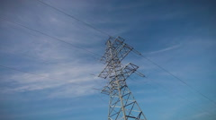 Voltage, high, electricity, tower Stock Footage