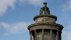 Time lapse from the Burns Monument in Edinburgh Scotland Stock Footage