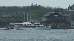 Mapfre sailing team racing during Volvo Ocean Race in Newport bay Stock Footage