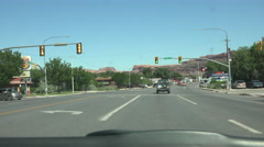 Downtown Moab Utah drive POV fast 4K Stock Footage