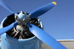 Old Propeller-Driven Airplane Stock Photos