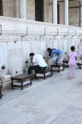 Ablution Before Praying - stock photo