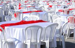 Preparation For Banquet - stock photo